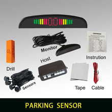Buzzer car parking assistance with 4 sensors and LED display Reverse Backup Radar Alert Indicator System 6 colors to choose