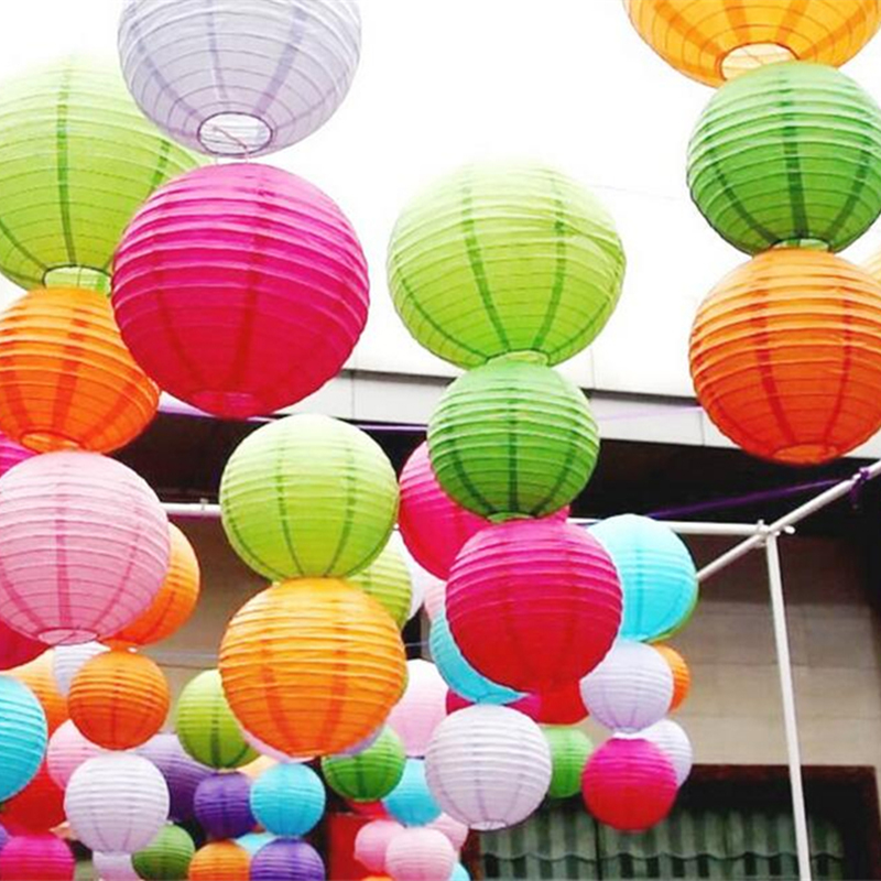 Free Shipping 8 inch 20cm Round Chinese Paper Lantern Birthday Wedding Party decor gift craft DIY wholesale retail(China (Mainland))