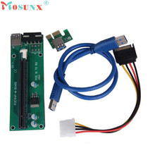 Buy Adroit PCI-E Express Powered Riser Card W/ USB 3.0 extender Cable 1x 16x Monero APR19 drop for $5.15 in AliExpress store