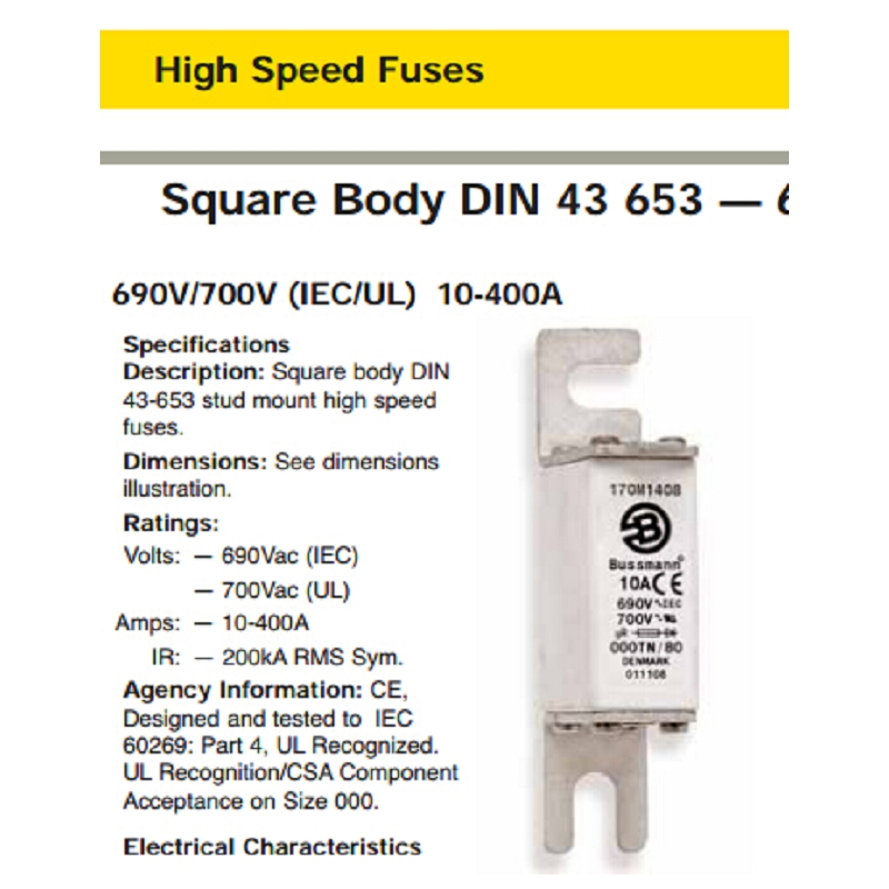 Free shipping. The import of  fuse 170 m2610 40 a fuse body 700 v 690 v socket<br><br>Aliexpress