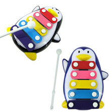 Best seller Children Baby 5-Note Xylophone Musical Toys Wisdom Development Penguin improve Kid sensitive to colors sounds zt jul(China (Mainland))