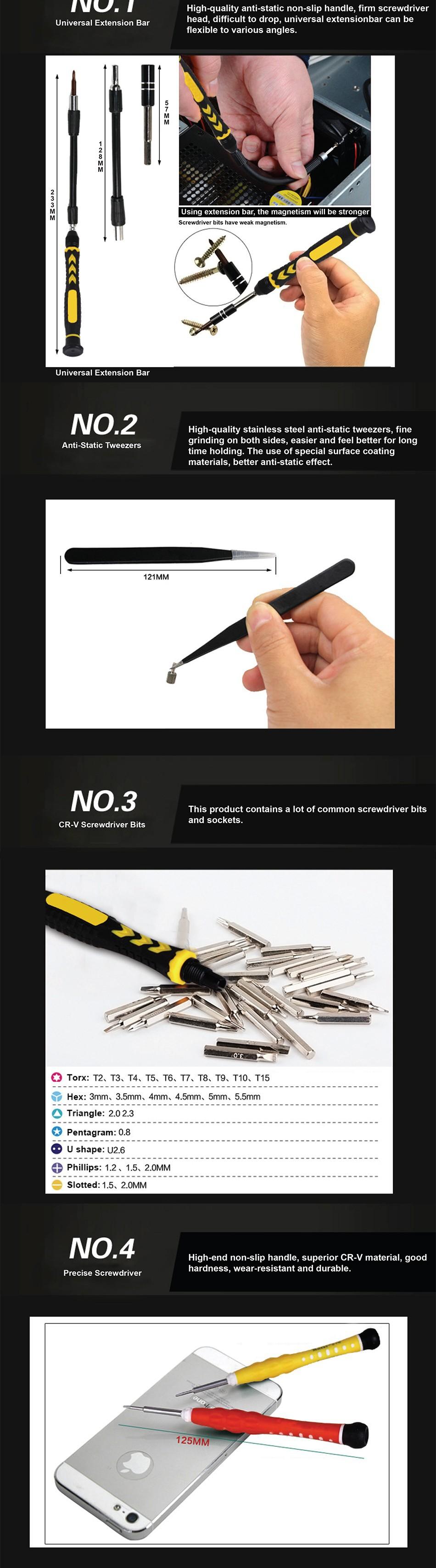 Dekopro 38 In 1 Multi Repair Precision Screwdriver Tool