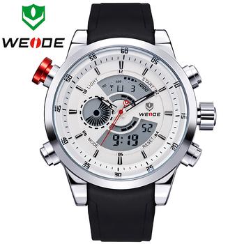 Новый 2015 WEIDE Relogio Masculino мужчины спортивные часы цифровой дисплей 3ATM водонепроницаемый кварца япония военные часы WH3401