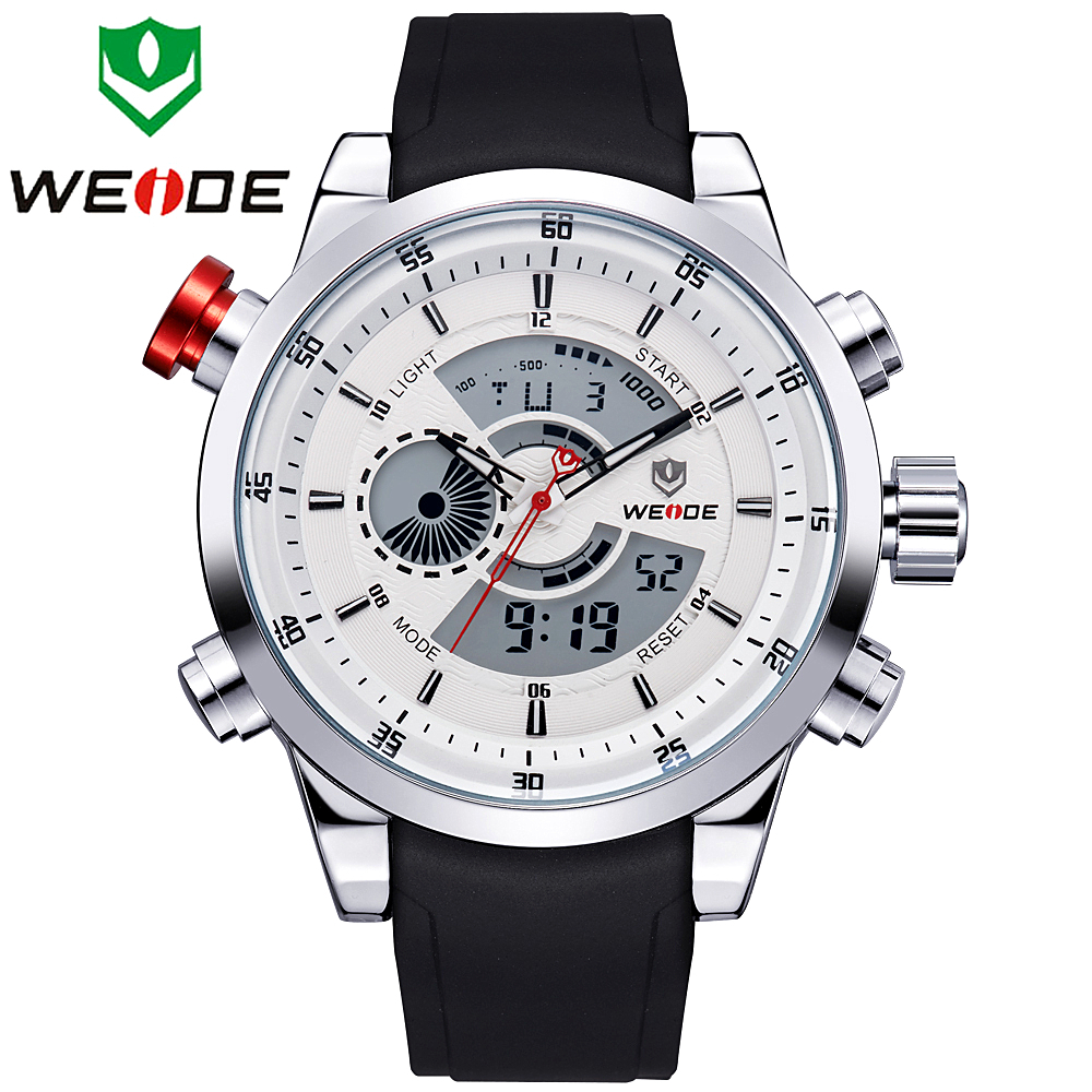 New 2015 WEIDE Relogio Masculino Men Sports Watch Analog Digital Display 3ATM Waterproof Japan Quartz Military Watches WH3401(China (Mainland))