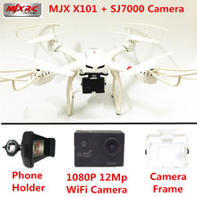 RC Helicopter MJX X101 Quadcopter 6-Axis Gyro Drones SJ7000 WiFi Camera HD 2.4GHZ Drone With Camera Dron Quadrocopter VS X8W(China (Mainland))