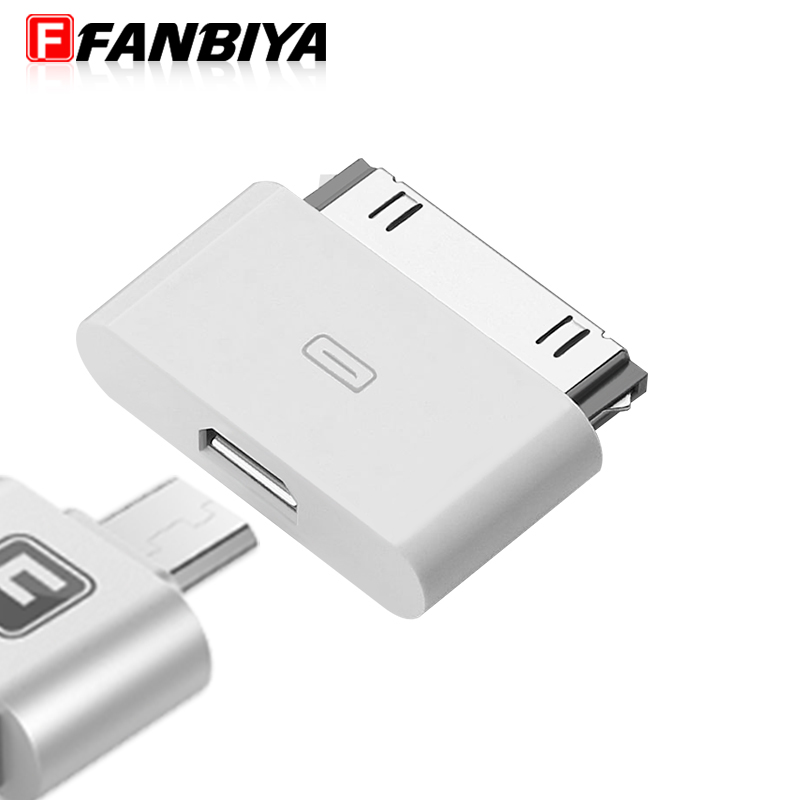 FANBIYA Micro usb OTG Adapter to 30pin Dock Connector for For iphone 4s 4 3GS for iPad 2 3 IPOD Charger Cable Adapter Converter(China (Mainland))