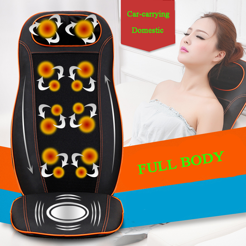 (Free Shipping)12V vehicular super thin multifunctional full body massage chair for car-carrying cushion neck back waist hip(China (Mainland))