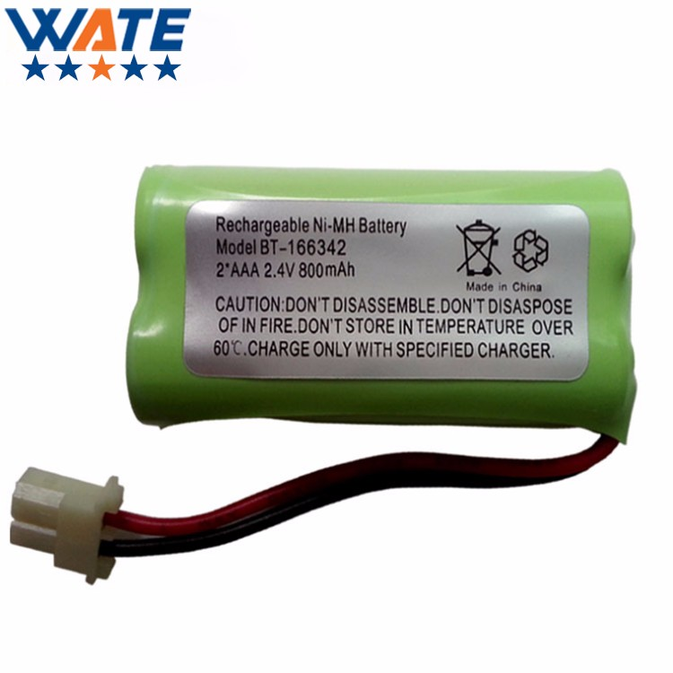 Hot Selling 2pcs/lot New 2.4v 800mAH Ni-MH Rechargeable Battery LH070-2A43C2BRML1P Cordless phone batteries pack