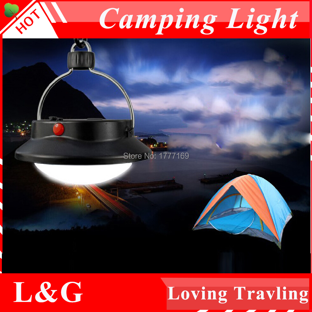 60 LED Outdoor Indoor Camping Light 18650 Remote Portable Lampshade Circle Tent Lantern White Light Campsite Hanging Lamp(China (Mainland))