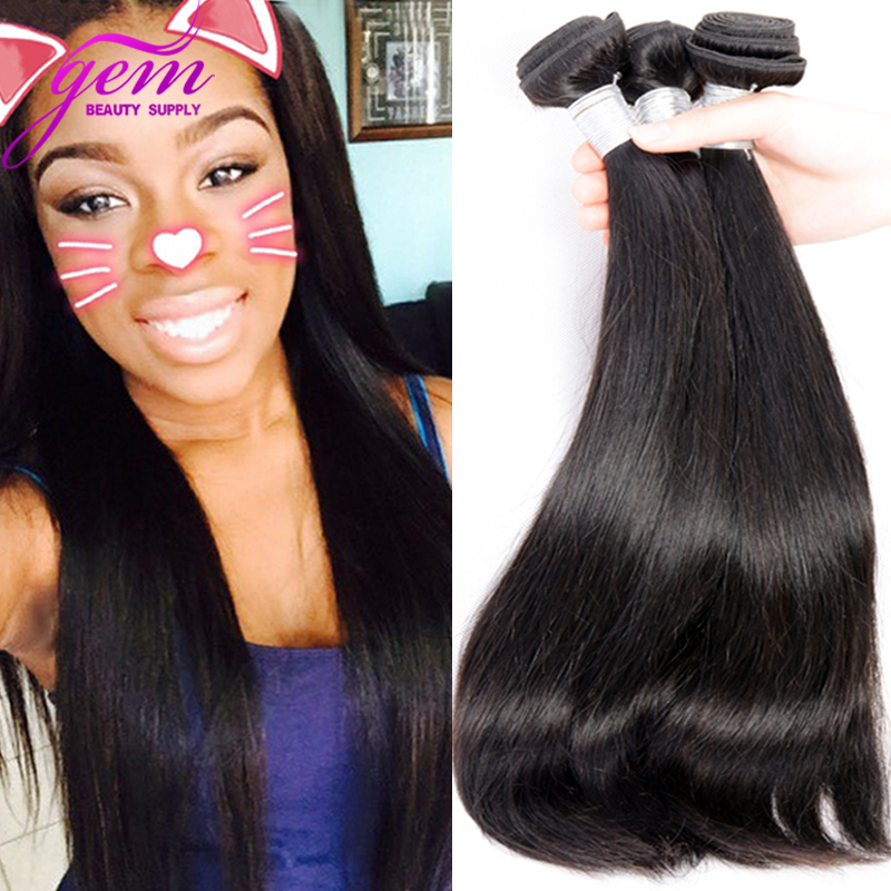 Indian Virgin Hair Straight 3 Bundles 300g Unprocessed Remy Queen Human Hair Indian Straight Virgin Hair Peerless Kinky Straight