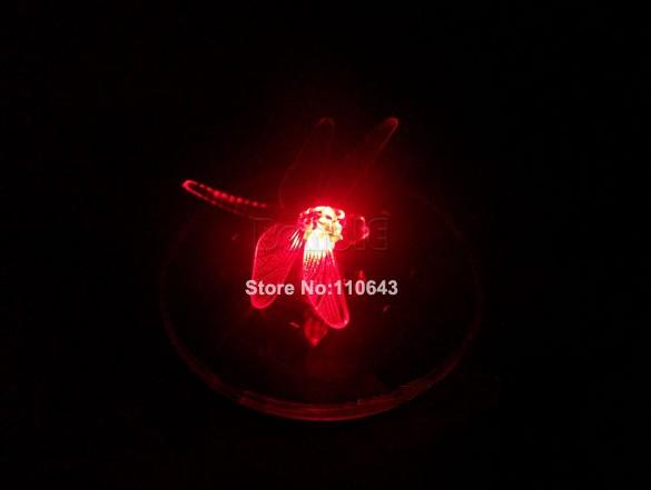 8pcs/Lot Wholesale Dragonfly Color Change Floating Solar LED Light Night Lamp 14418(China (Mainland))