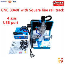 NEW woodworking machine cnc router 3040F USB Port 4Axis 1500W metal engraving Square line rail track(China (Mainland))