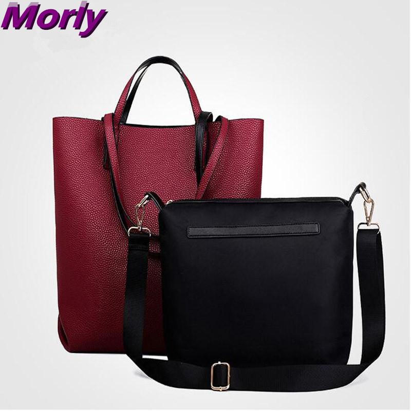 women pu Leather Handbag Shoulder Bag Popular Women Brand Versatile Soft Bolsas Open Crossbody Composite Bags Casual Totes
