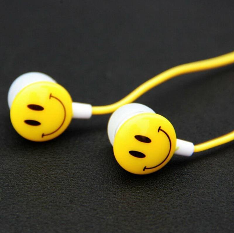 Smile Face Earphone In Ear Audifonos Ecouteurs Auricolari Ear Phones Music Earbuds Sport Earphone for iPhone Samsung Earphones(China (Mainland))