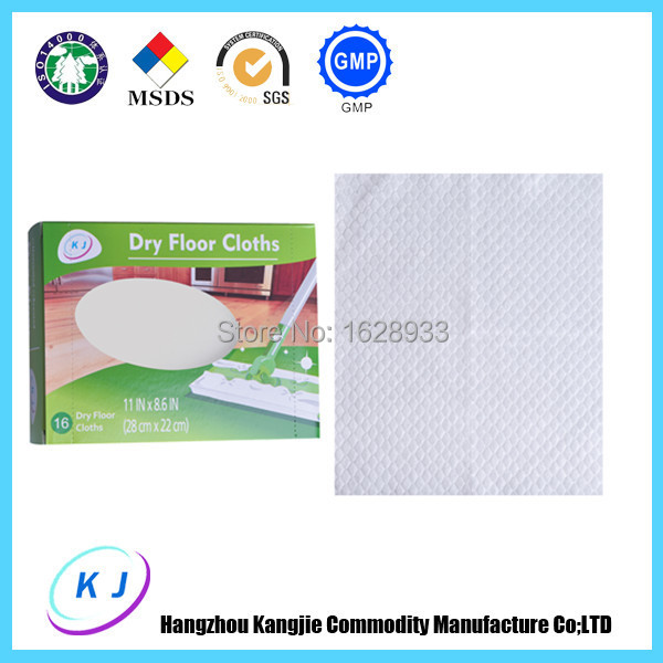 Free Shipping Floor Sweeper Refills Dry Floor Wipes Mop Cloth Disposable Wipes - Unscented - 16 Count(China (Mainland))