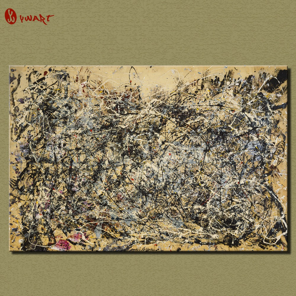 Cuadros 2016 Fashion Sale Wall Art Large Paintings For Home Decor Idea Painting Print On Canvas Jackson Pollock Number 1a 1948(China (Mainland))