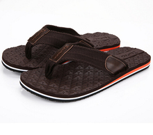 Summer brand male slippers tide canvas breathable flip-flops baked summer slippers male beach sandals free shippers