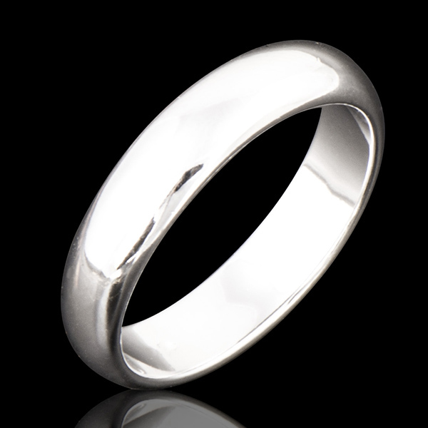 Fashion Jewlery Simple Smooth white Gold Plated Silver Plated Wedding Rings for Women and Men Ring size 7 8 9 Nickel Free(China (Mainland))
