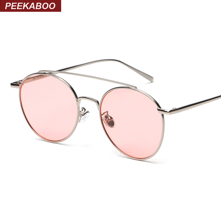 Korean star style women retro vintage round mirrored sunglasses flat top fashion sun glasses men brand unsiex UV400 ocean lens(China (Mainland))