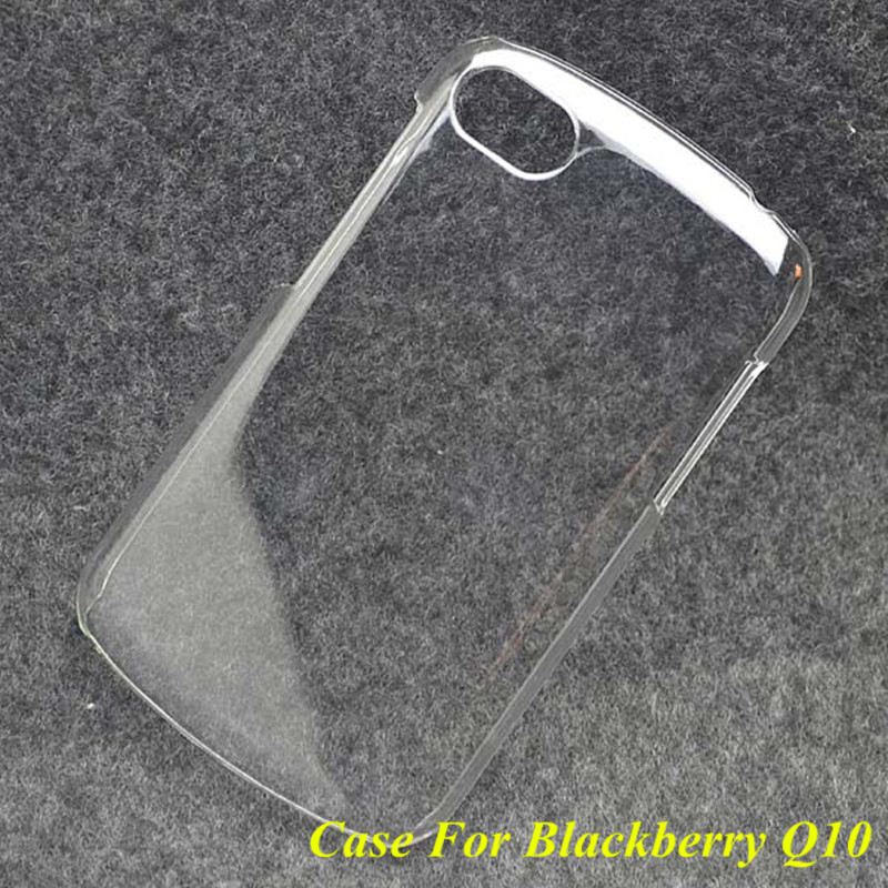 1 Pc New Ultra Thin Glossy Transparent Clear Crystal PC Hard Plastic Back Case Cover For BlackBerry Q10 High Quality(China (Mainland))