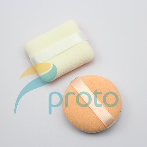 Freeshipping 2Pcs/lot Makeup Sponge Face Powder Puff with Satin Ribbon SKU:M0225