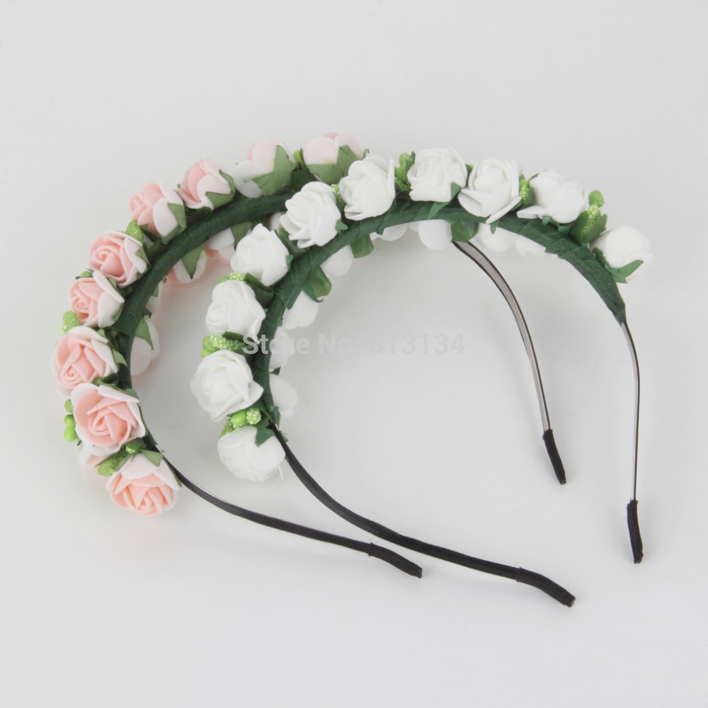 1pc Women Bridal Flower Headband Wedding Party Floral Garland Hairband Headwear(China (Mainland))