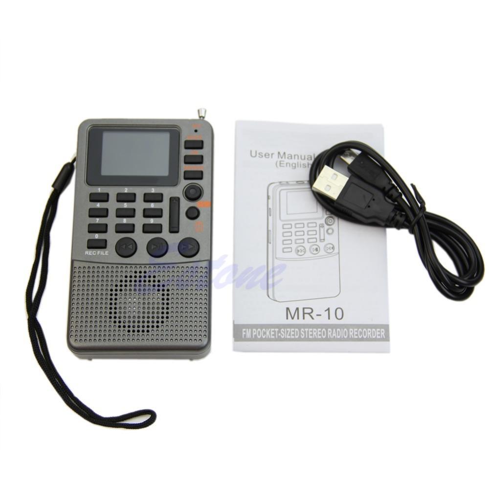 Free Shipping Portable Digital FM Radio Pocket Full Band Receiver LCD MP3 Player TF Card DC