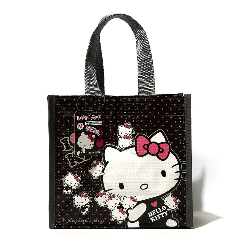 Hot sale.Kawaii Polka Dot Hello Kitty Eco Shopping Bag.Cartoon Reusable Lunch Bags.Portable Handbag.Gift Storage Bag.Organizer(China (Mainland))