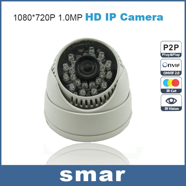 Mini IP Camera 720P Home Security Indoor 1.0MP HD Network CCTV Camera Dome Onvif P2P Pluy and Play(China (Mainland))