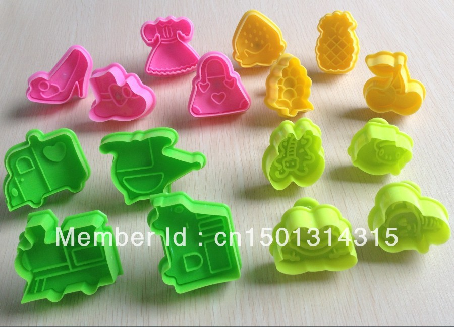 Fruit Shaped Cake Decoration : 4 Set animal fruit car shape (16 pcs) Sugarcraft Cake ...