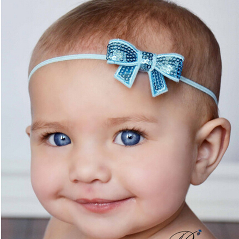 2014 new arrive fashion bow 10 colors in stock!!Hair Accessories, sequin bows for headband for baby girl(China (Mainland))