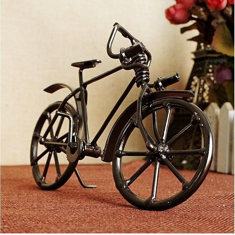 2017 Vintage bicycle model creative handicrafts Nostalgic metal bicycle model gift decorative iron bike