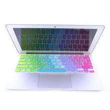 10 X Dazzle Color rainbow Silicone Laptop keyboard Skin Protector Cover film Guard for Apple Macbook Pro Air Retina 13 15 17