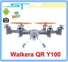Walkera QR Y100 FPV Wifi Aircraft UFO RC Quadcopter Drone helicopter with camera brushless motor VS dji phantom 2 Free girl gift
