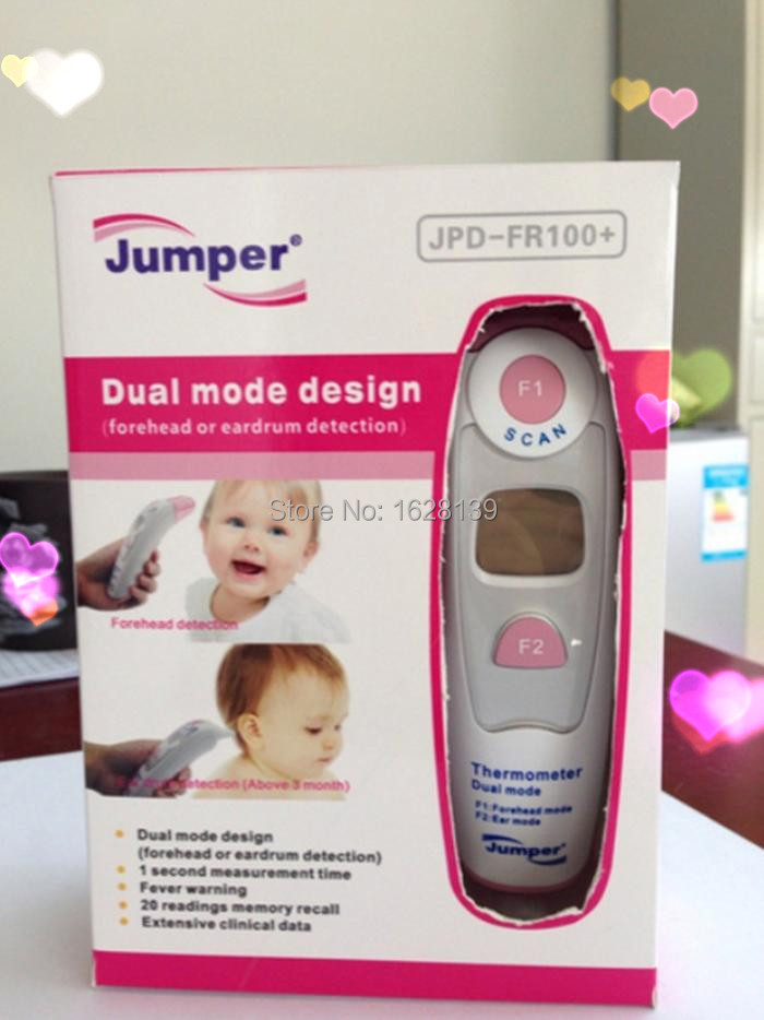 Health Care Non-contact Ear & Forehead LCD Digital Infrared Thermometer Baby Adult Body Temperature Monitor CE FDA Approved(China (Mainland))