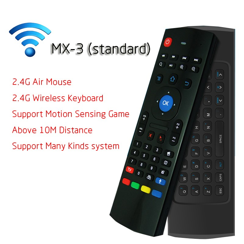 2 4Ghz Wireless Mini Keyboard MX3 Keyboard With IR Learning Mode Air Mouse Remote Control Keyboard