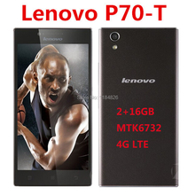 Original Lenovo P70-t P70t Smartphone 2GB 16GB 64bit MTK6732 5.0 Inch HD Screen 4000mAh Battery Free Shipping