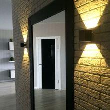 1 W Haute Qualité Promesse Led Mur Lampe Carré Forme Noir/Argent Intérieur Chambre/Salon Appliques Murales, blanc/Blanc Chaud, 6 CM(China (Mainland))