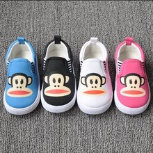 2015 Baby Casual Sneakers Monkey Children Shoes Girls Flat-bottomed Single Shoes Boy Sneakers kids Shoes Candy Color flats(China (Mainland))