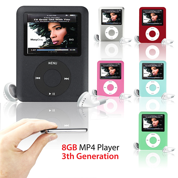 """MP3 Player 8GB 1.8"""" LCD Media Video radio FM 3th Generation 6 Colors A57(China (Mainland))"""
