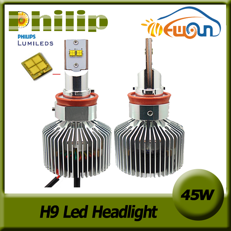Gen5 45W H9 LED Headlight Conversion Kit 6000K White Car Head lamp Fog Light Lamp 4500Lm led Auto Headlamp bulb12V 24V(China (Mainland))