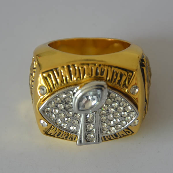 Unique Heave Metal Design Replica Rhodium Plated 2002 Super Bowl Tampa Bay Buccaneers Championship Ring for men as gift(China (Mainland))