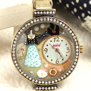 Mini clay hand for watch summer lady rhinestone table vintage table