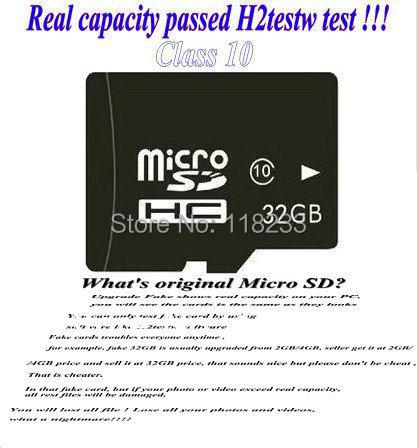 Real capacity memory card 2GB 4GB 8GB class 4 16GB 32GB 64GB 128GB 256GB class 10 micro sd hc card pass h2testw + Free adapter(China (Mainland))