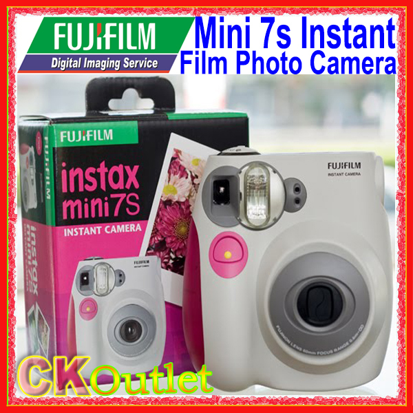 100% Original Brand New Fujifilm Instax Mini 7s Instant Film Photo Camera Blue / Pink with Free Gift(China (Mainland))