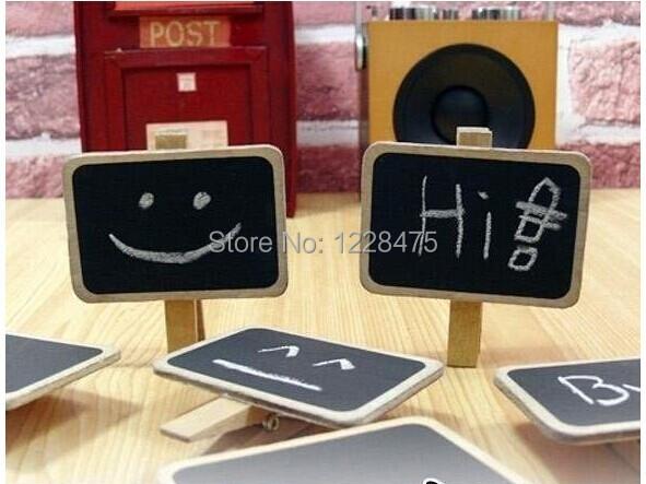 New Fashion Special Gift Small Wooden Blackboard Clip/Paper Clip board/Message Folders/Chalkboard wood pegs<br><br>Aliexpress