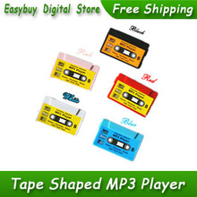 New Style High Quality Mini Tape Shaped Card Reader MP3 Music Player Gift MP3 Players 5 Colors