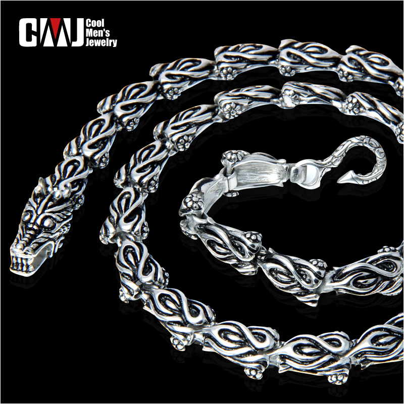 Personalized vintage cmj flame male necklace chinese dragon cool accessories the whole network