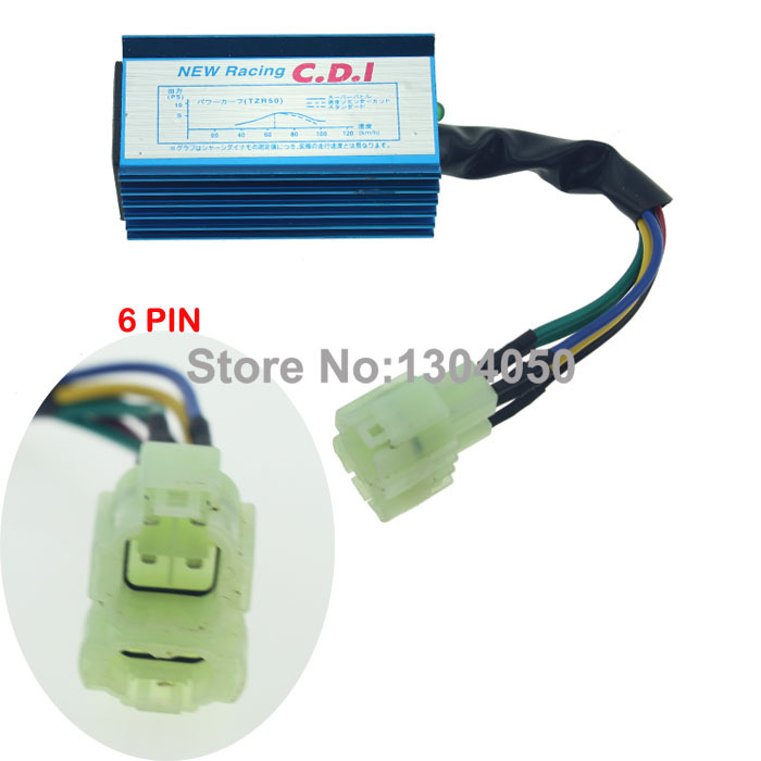 Performance racing CDI box scooter moped go-kart ATV gy6 50 110 150 200 250 cc 6 Pin Performance Racing CDI(China (Mainland))