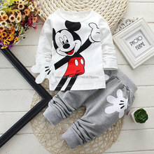 New Arrival 2015 Spring Newborn Suits Baby Girls Boys Brand Mini Suits Fashion Sports Kids T Shirt+Pants Suits Children Clothes